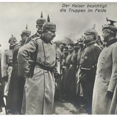 Der Kaiser besichtigt die Truppen im Felde