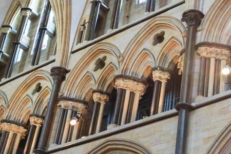 Lincoln Cathedral choir interior triforium