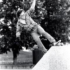 Skateboarding on State Street Mall