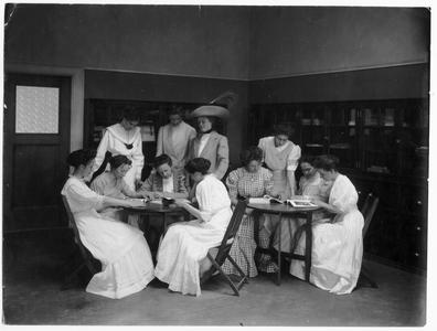 Students in clothing class