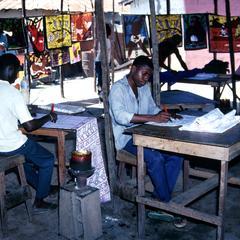 Making Batiks for the Tourist Market