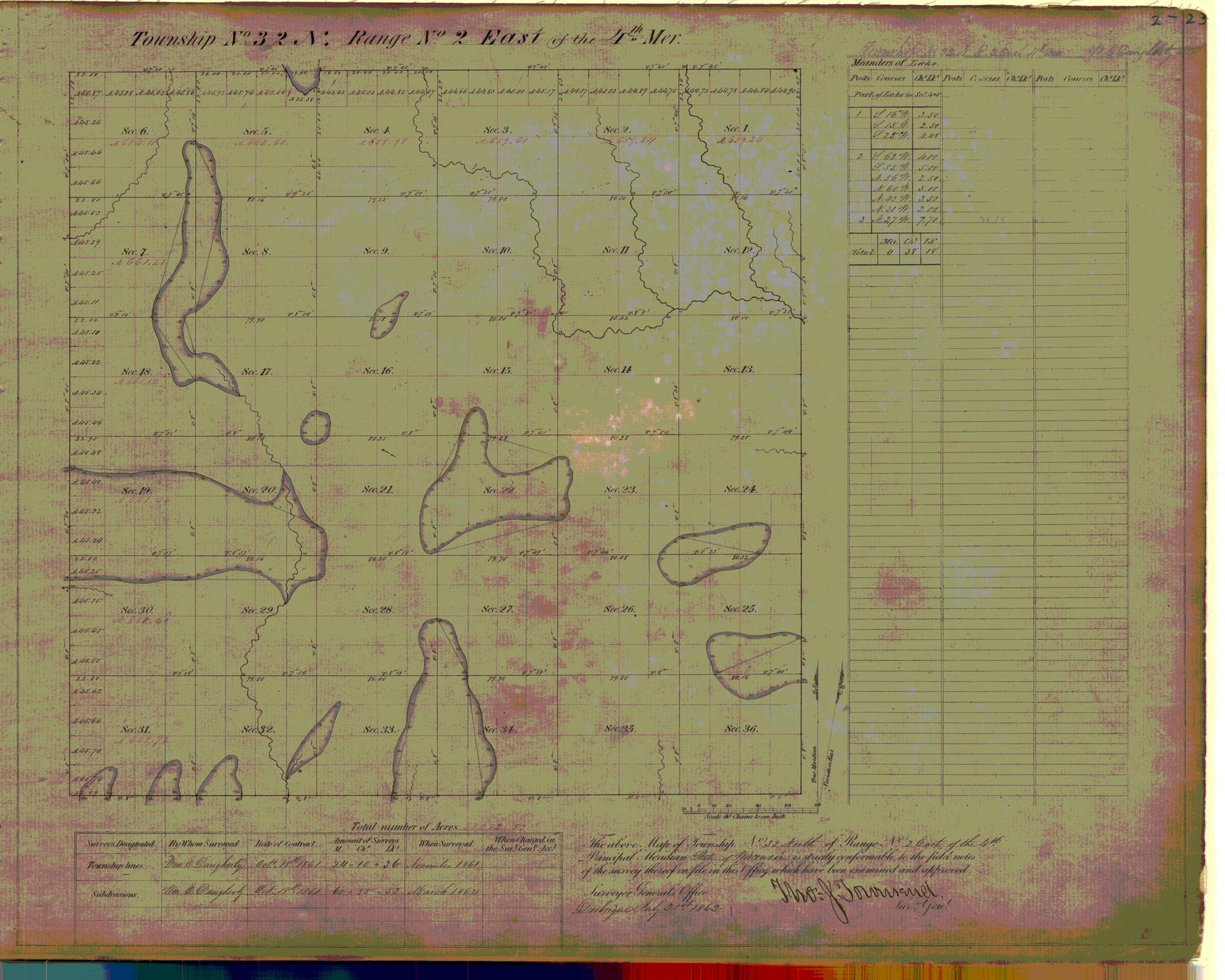 [Public Land Survey System map: Wisconsin Township 32 North, Range 02 East]