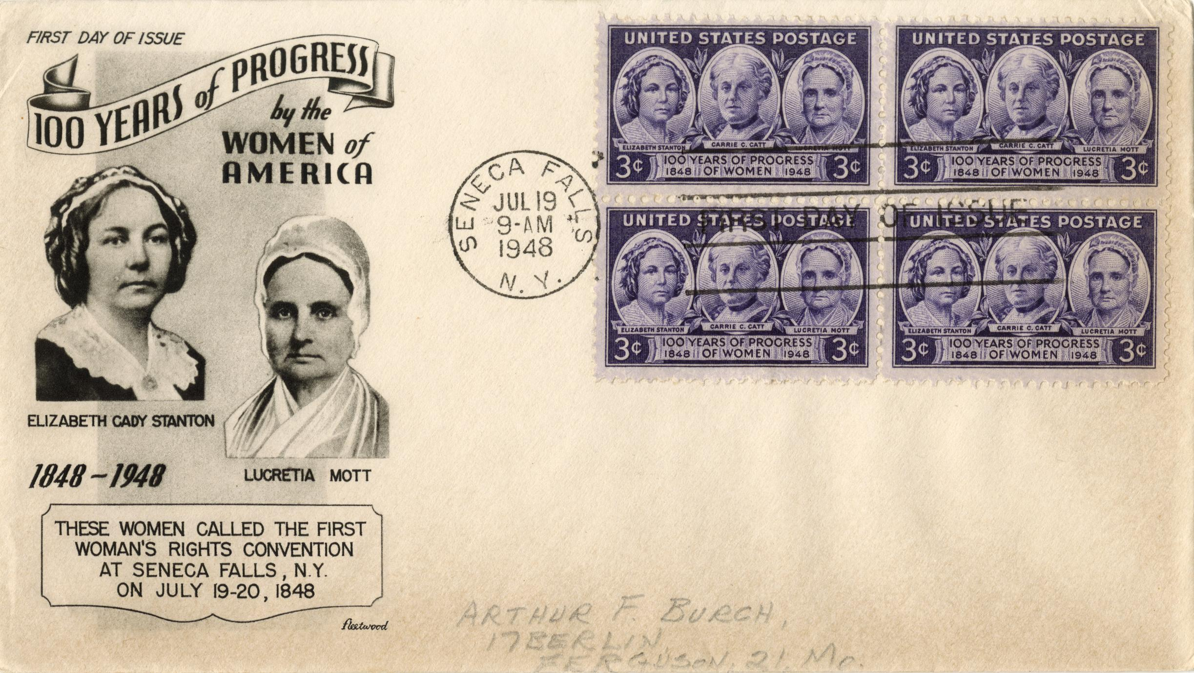 100 years of progress by the women of America envelope