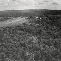 Aerial view of the landing strip in Houei Kong in Attapu Province
