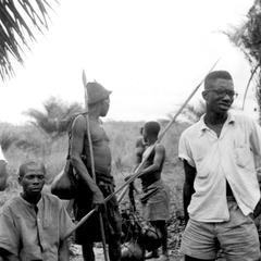 Kuba-Bushong Fishermen Preparing on River Bank