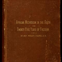 African Methodism in the South ; or, Twenty-five years of freedom