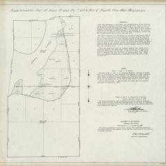 [Public Land Survey System map: Wisconsin Township 40 North, Range 11 East]