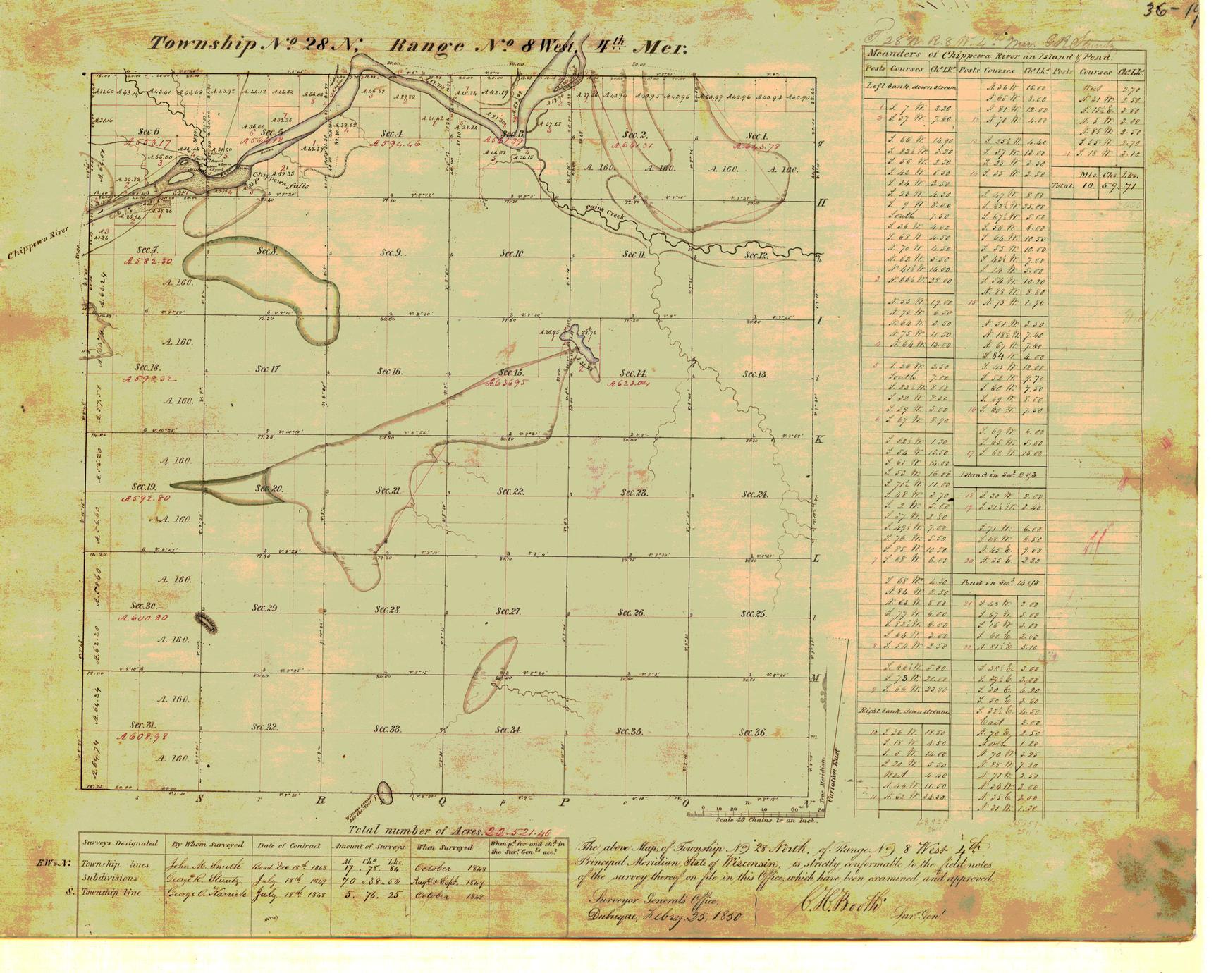 [Public Land Survey System map: Wisconsin Township 28 North, Range 08 West]