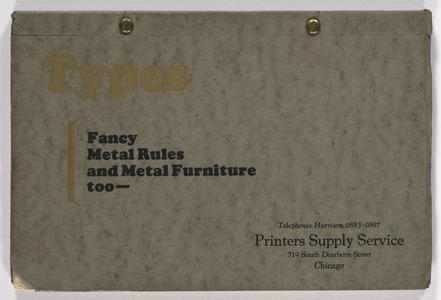 Types : fancy metal rules and metal furniture too