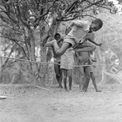 Boy Jumping Stick
