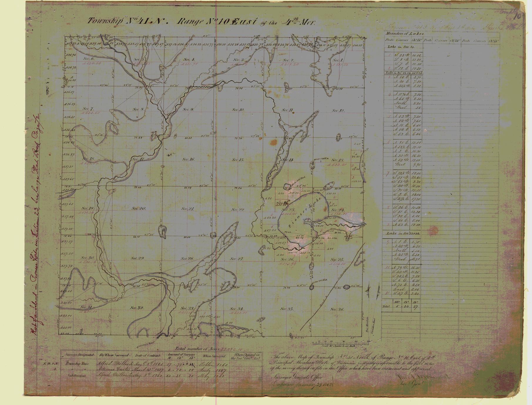 [Public Land Survey System map: Wisconsin Township 41 North, Range 10 East]