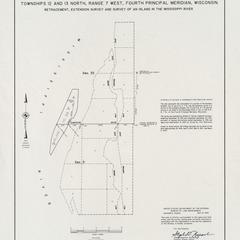 [Public Land Survey System map: Wisconsin Township 12 North, Range 07 West; Township 13 North, Range 07 West]