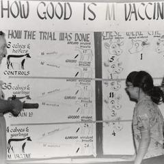 Wayne Burch with vaccine display