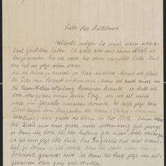 [Letter from Erich Luding to Herr Ruedebusch, December 22, 1912]
