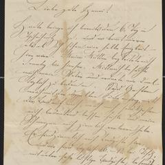 [Letter from Carl Nibler to Hanni Sternberger, August 24, 1849]