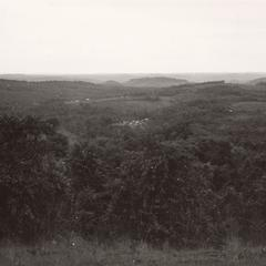 View looking westward from the grasslands of the eastern region of the Boloven Plateau in Attapu Province