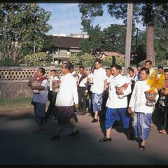 Vat Ong Tu : procession marking end of Buddhist Lent--officials