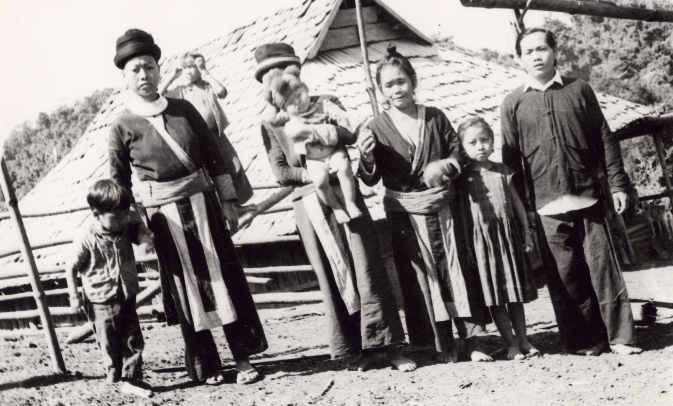 A White Hmong family of seven in Houa Khong Province