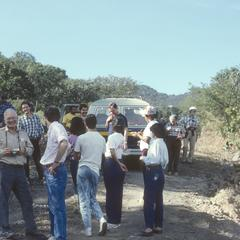 Peterson (facing camera) and symposium group above Ahuacapan