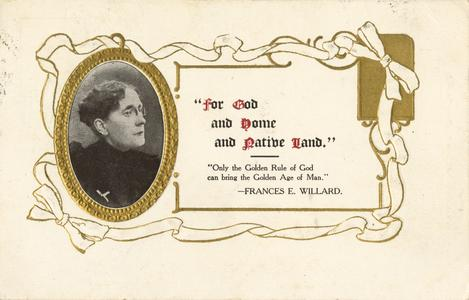 'For God and home and native land' postcard