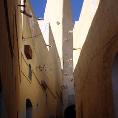 Walls and Mosque of Old City of Ghardaia with Modern Amenities