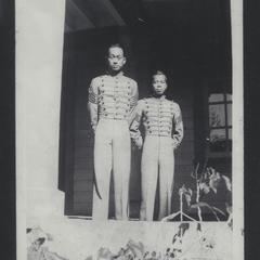 Two cadets standing in uniform, Baguio