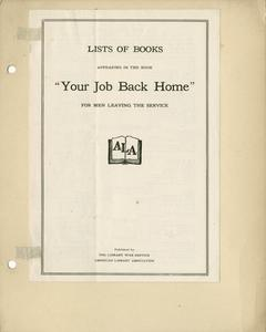 Page 3 - A.L.A. lists used in camp library work