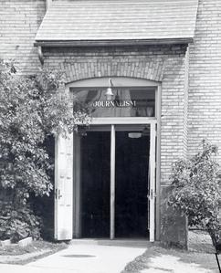 Journalism building entrance
