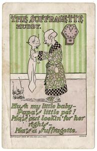 The suffragette hubby, suffrage postcard