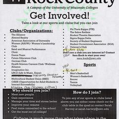 Get involved flyer, Janesville, 2016
