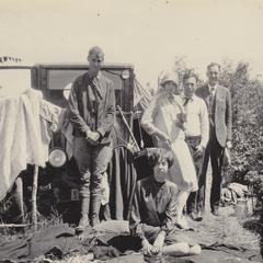 Thwaites, Durand and others at camp