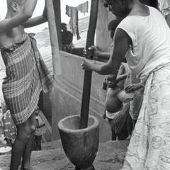 Girls Pounding Rice