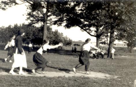 Women baseball players