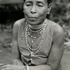 A refugee woman from Meun Hua Meung in the village of Nam Ho in Attapu Province