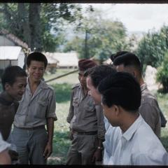 Dooley with Akha and Lao soldiers