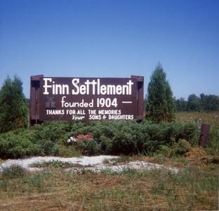 Finn Settlement memorial