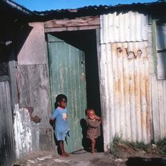 Children in Doorway of Home, Walmer Township, Port Elizabeth