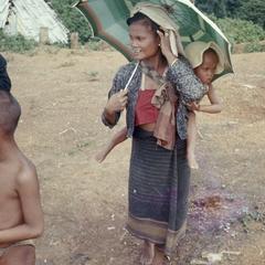 Ethnic Khmu' woman with baby