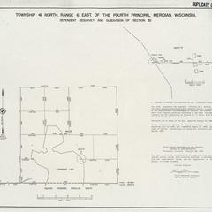 [Public Land Survey System map: Wisconsin Township 41 North, Range 06 East]
