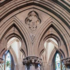Lichfield Cathedral interior chapter house entrance