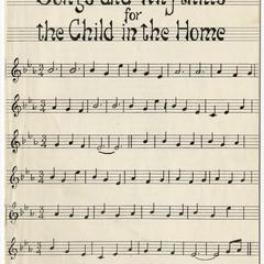 Songs and rhythms for the child in the home