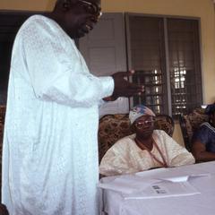Molt official and Oba Oladele Olashore