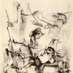 Satire of Delacroix