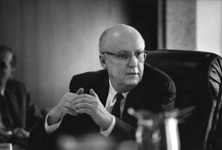 Fred Harvey Harrington at meeting