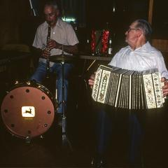 Harold Blaisdell and Clarence Metzdorf perform