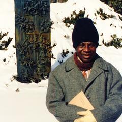 Nigerian artist Ogbo Folarin in Racine, Wisconsin