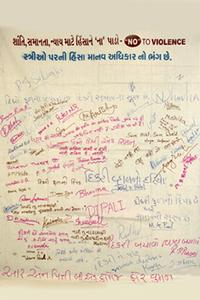 Signature campaign of slogans at R.N. Pitti B.Ed. College for Women