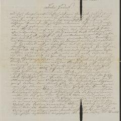 [Letter from Karl to his friend, Jakob Sternberger, April 1, 1850]
