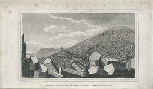 Exhibition of basalts nead Höskuldstad.