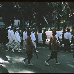 Procession of officials into Vat Ong Tu prior to ceremony